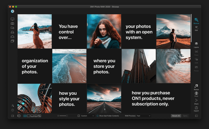 ON1 Photo RAW Open Sourced Editor 2