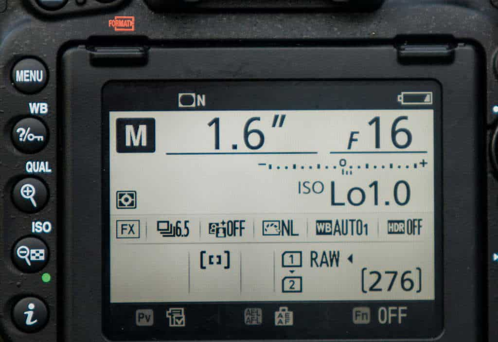 Nikon ISO Lo 1.0