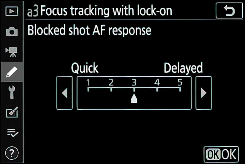 Nikon z6ii focus tracking with lock on
